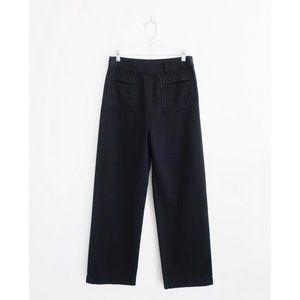 Apiece Apart Black High Rise Wide Crop Pants sz 8